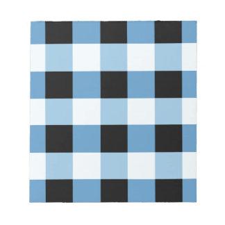 Bloc-note Motif géométrique abstrait - noir et bleu