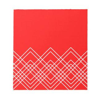 Bloc-note Motif géométrique abstrait - rouge et blanc