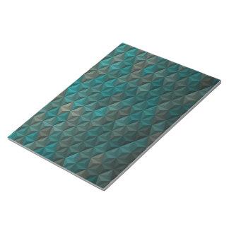 Bloc-note Motif géométrique de cubisme turquoise de vert