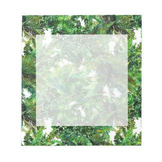 Bloc-note Motif vert de chute de forêt de fougère