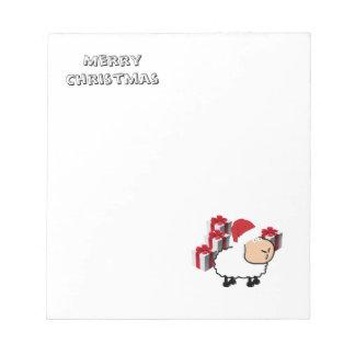 Bloc-note Moutons mignons lunatiques drôles de Noël