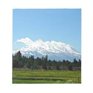Bloc-note Nature de paysage de montagne de Shasta la