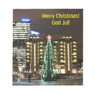 Bloc-note Noël à Oslo, Norvège