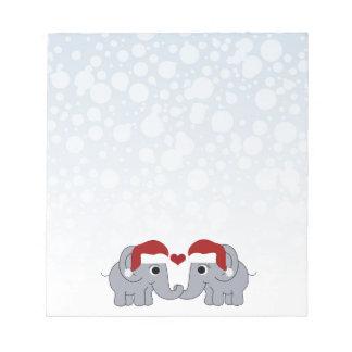 Bloc-note Noël d'éléphant