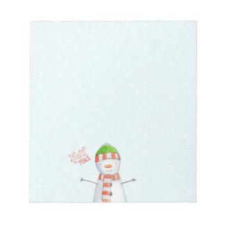 Bloc-note Noël mignon de bonhomme de neige de joie et de