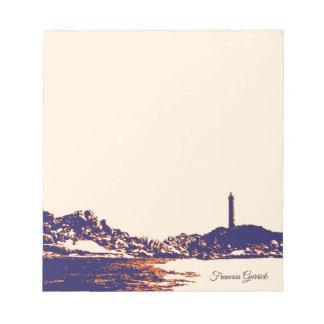 Bloc-note Note artistique nautique vintage de coutume de