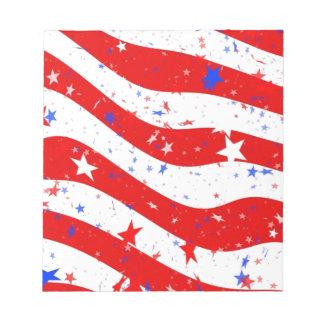 Bloc-note Nous drapeau américain de drapeau de l'Amérique de