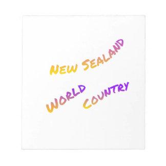 Bloc-note Nouveau pays du monde de Sealand, art coloré des