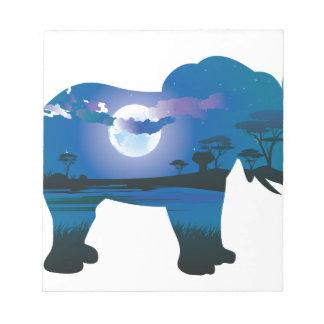 Bloc-note Nuit africaine avec l'éléphant 2