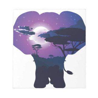Bloc-note Nuit africaine avec l'éléphant 3