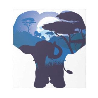 Bloc-note Nuit africaine avec l'éléphant 4