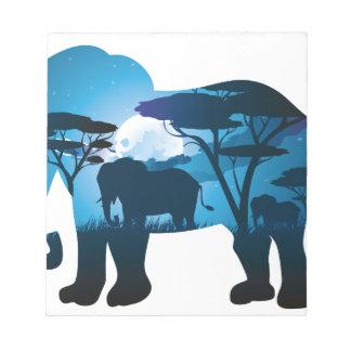 Bloc-note Nuit africaine avec l'éléphant 6