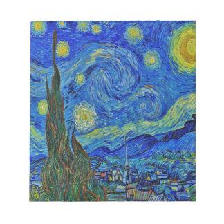 Bloc-note Nuit étoilée de Van Gogh