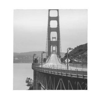 Bloc-note Obscurité unique de vue de San Francisco golden