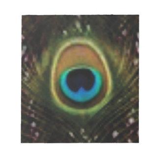 Bloc-note oeil de paon ouais
