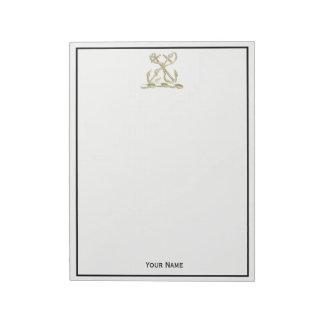Bloc-note Or héraldique de Faux d'emblème de crête de double
