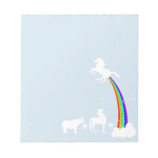 Bloc-note Origine de licorne