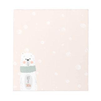 Bloc-note Ours blanc - laissez-le neiger - hiver/Noël