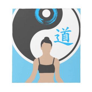 Bloc-note Paix de yoga de Yin Yang
