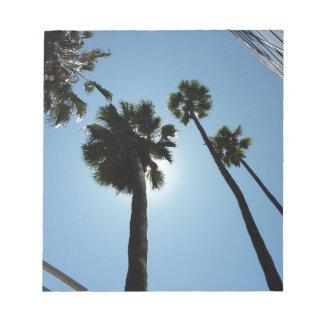 Bloc-note Palmiers Los Angeles Hollywood Etats-Unis