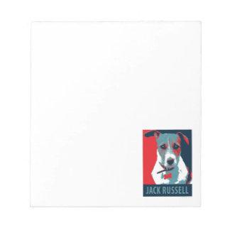 Bloc-note Parodie politique d'espoir de Jack Russel Terrier