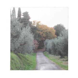 Bloc-note Paysage rural pendant l'automne. La Toscane,