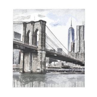 Bloc-note Paysage urbain Etats-Unis de ville d'horizon