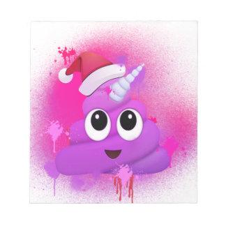 Bloc-note Peinture de jet de Père Noël Emoji de dunette de