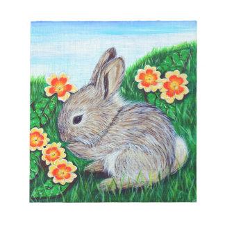 Bloc-note Peinture de lapin de printemps