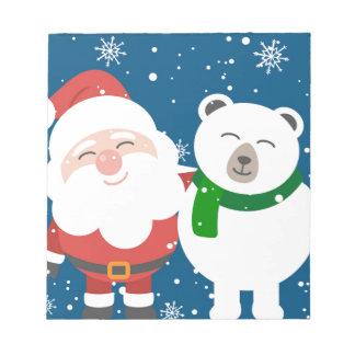 Bloc-note Père Noël et l'ours