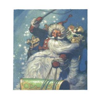 Bloc-note Père Noël vient à la ville