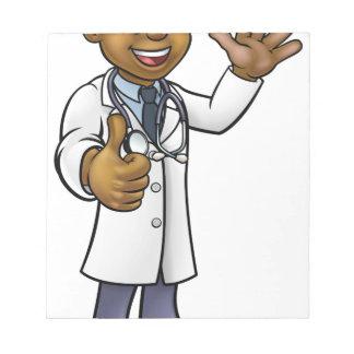 Bloc-note Personnage de dessin animé de docteur Giving