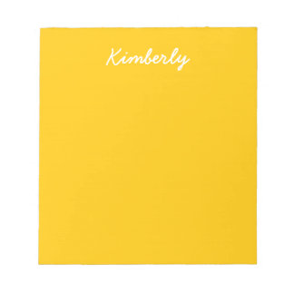 Bloc-note Personnaliser ambre de couleur solide il