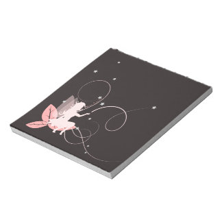 Bloc-note Petite fée rose et arabesques