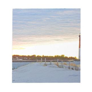 Bloc-note Phare au coucher du soleil