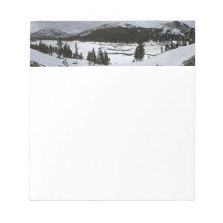Bloc-note Photographie d'hiver de la Californie de lac snowy