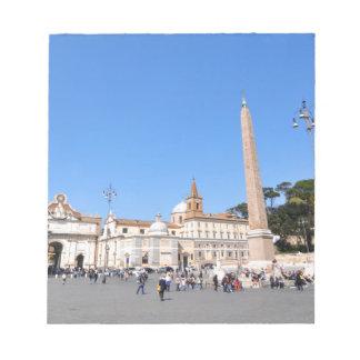 Bloc-note Piazza del Popolo, Rome, Italie