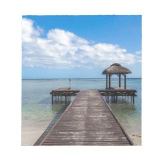 Bloc-note Pilier dans le flac flic îles Maurice d'en d'océan