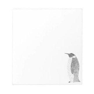 Bloc-note Pingouin pointillé