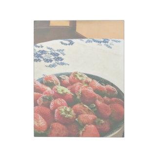 Bloc-note Plat des fraises