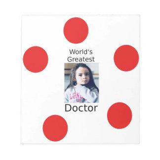 Bloc-note Plus grand docteur Customizable Photo Design du