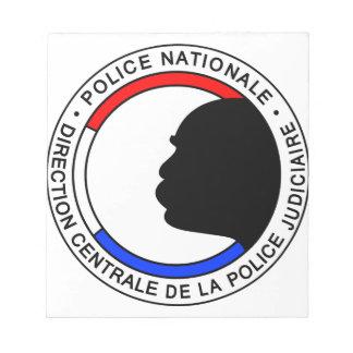 Bloc-note Police Française