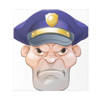 Bloc-note Policier fâché moyen de bande dessinée