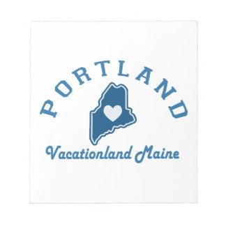 Bloc-note Portland Maine