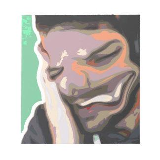 Bloc-note Portrait abstrait de Photoshop - rire obscur
