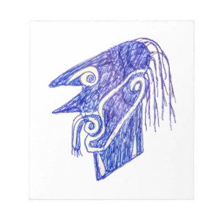 Bloc-note Portrait Ilustration de monstre d'aspiration de