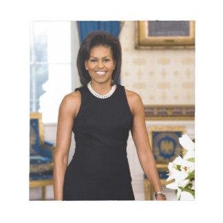 Bloc-note Portrait officiel de première Madame Michelle