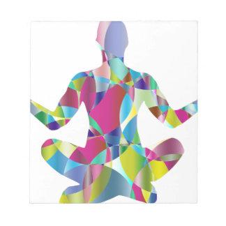 Bloc-note Pose femelle abstraite prismatique de yoga