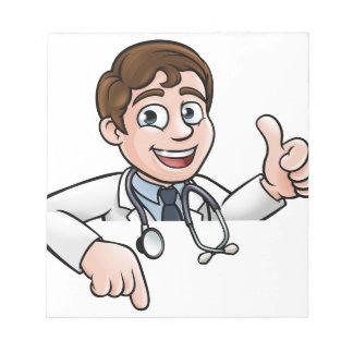 Bloc-note Pouces de docteur personnage de dessin animé se