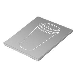 Bloc-note Pour aller ligne blanche de tasse (Togo de papier)